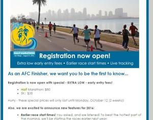 AFC Half Marathon Registration