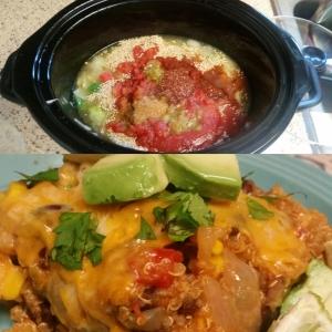 Quinoa Enchilada Bake in the Crock Pot