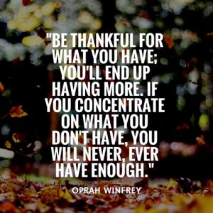 Oprah Winfrey Gratitude
