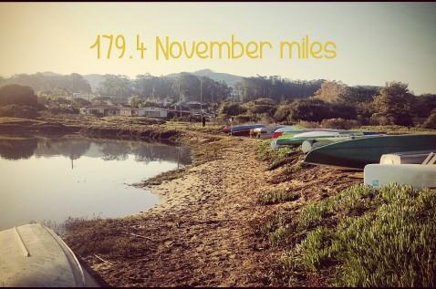 November Training miles