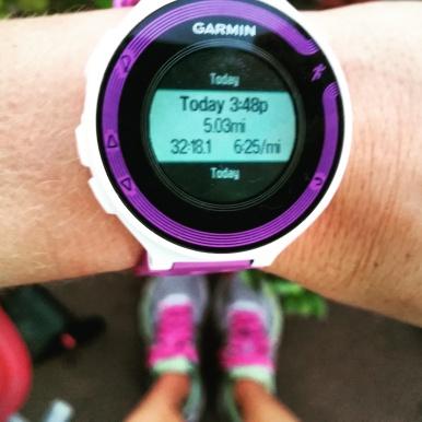 5 mile tempo run