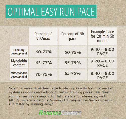 runner's connect easy day paces