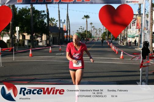 Oceanside Valentine's day 5k finish